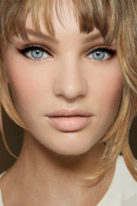 hairstyle for round face small eyes candice swanepoel jennifer lawrence hairstyle cahanson