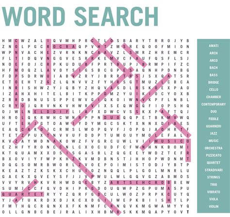 Magazine Word Search Word Search Answers For The October 2016 Issue Strings