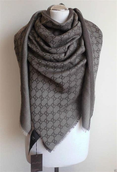 gucci scarf shawl gg guccissima 140x140 cm wool silk
