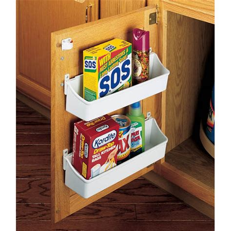 Kitchen Cabinet Door Organizers | rev a shelf kitchen cabinet door mounting storage shelf