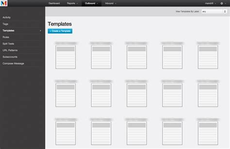 template labels and contextual help mandrill email
