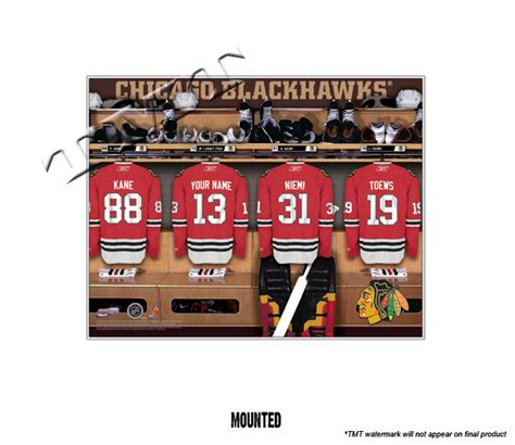 chicago blackhawks locker room chicago blackhawks personalized locker room print