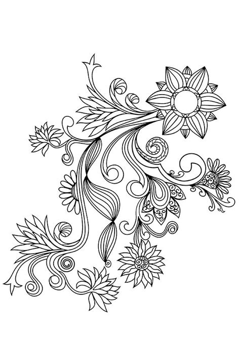 Floral Pattern Coloring Pages free coloring pages of flower patterns