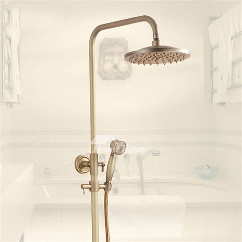 exquisite wall mount antique brass gold shower fixtures