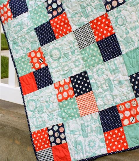 Easy Patchwork Blanket - 25 unique easy quilt patterns ideas on baby