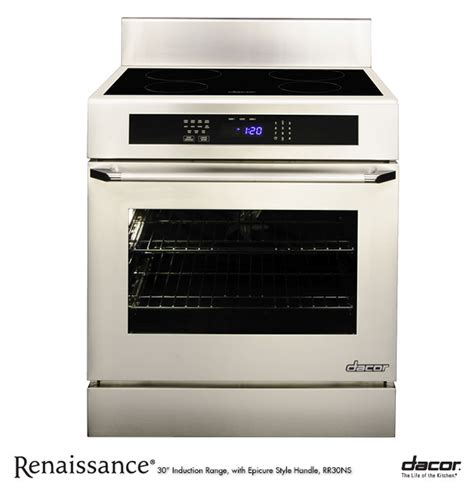 oven electric range with induction cooktop dacor renaissance 30 quot induction range w convection oven