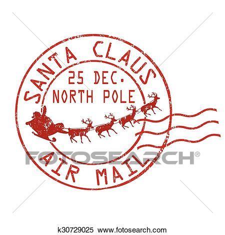 clipart babbo natale clipart babbo natale posta aerea francobollo k30729025