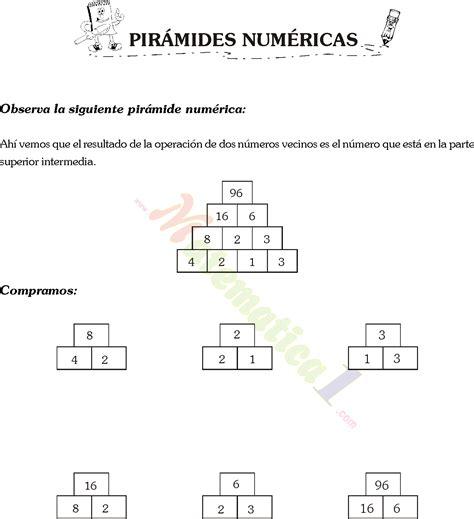 suma en piramides numericas de tercer grado de primaria suma en piramides numericas de tercer grado de primaria