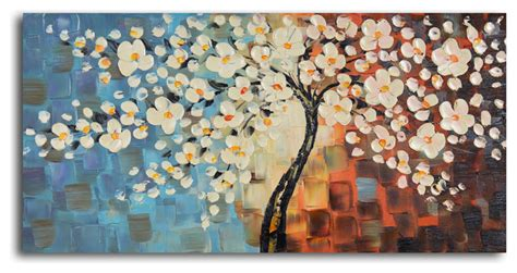 modern paints textured cherry blossom painted painting modern paintings by my outlet