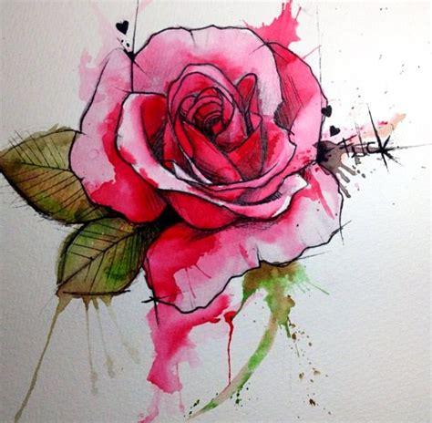 watercolor tattoos rose watercolor victoroctaviano