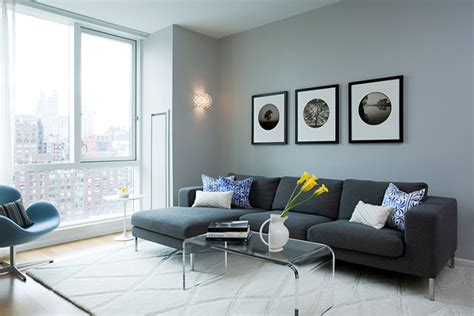 blue grey paint colors for living room waterfall coffee table contemporary living room benjamin smoke susan kennedy design