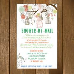 rustic shower by mail baby shower invitation printable