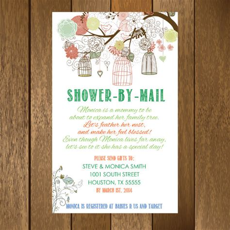 rustic shower by mail baby shower invitation printable - Baby Shower By Mail Invitations