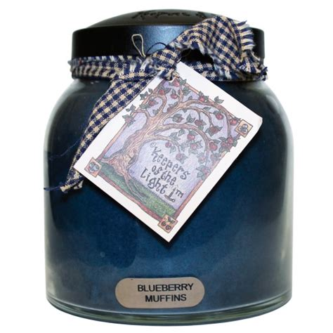 keepers of the light candles blueberry muffins 34 oz papa jar keepers of the light