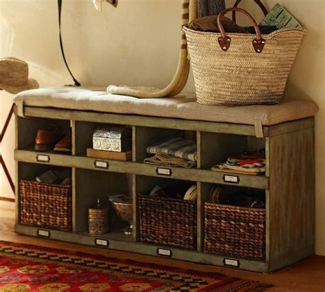 pottery barn shoe bench our olivia bench cubby keeps everything organized so you