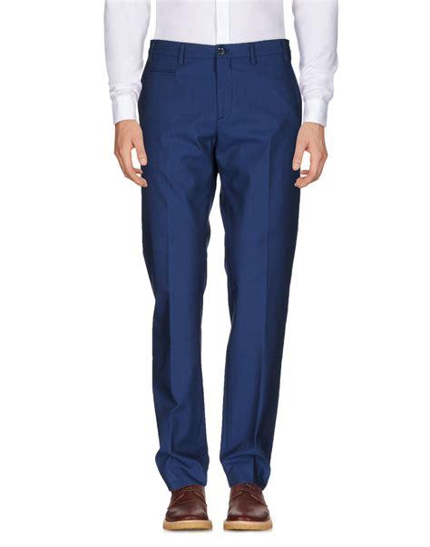Patrizia Pepe Casual lyst patrizia pepe casual trousers in blue for