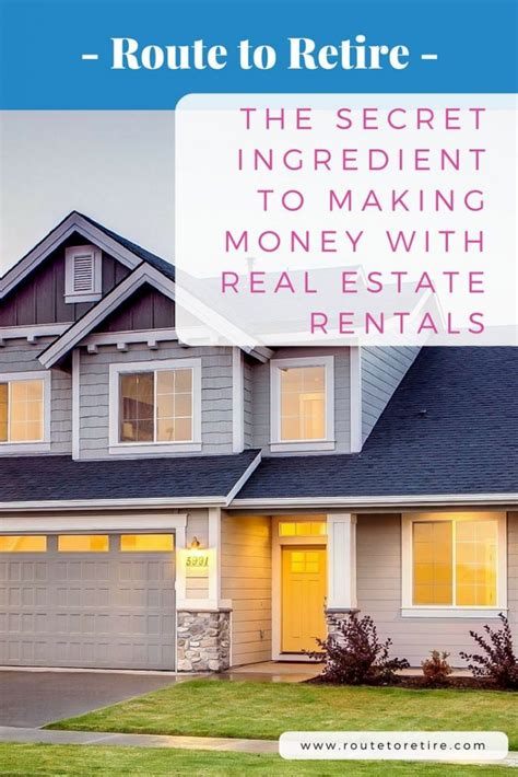 the secret ingredient to money with real estate