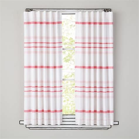 land of nod curtains kids curtains pink striped curtain panels the land of nod