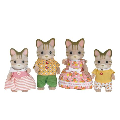 sylvanian families cat family sylvanian families striped cat family set 163 22 00