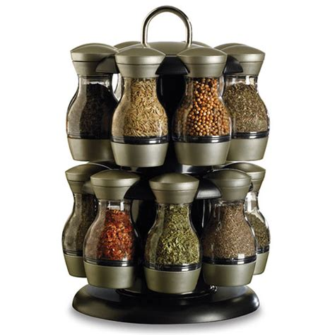 Rotating Spice Rack 16 Jar Revolving Spice Rack With Spices In Spice Racks