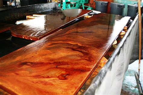 Gfrc Countertops by Gfrc Ghost Concrete Counter Reactive Staining Flickr