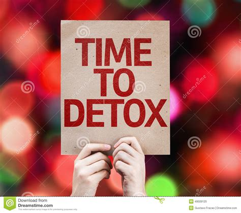 A To Z Detoxing by Time To Detox Card With Colorful Background With Defocused