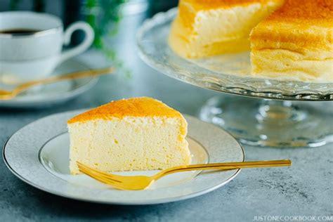 Japanese Cheese Cake Hias japanese cheesecake スフレチーズケーキ just one cookbook