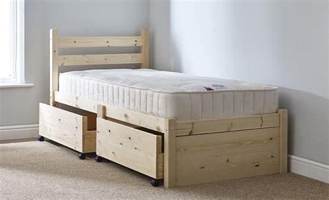 single pine bed frame somerset 3ft single storage pine bed frame