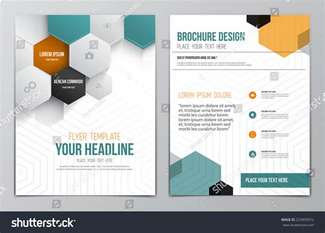modern brochure templates brochure design template geometric shapes abstract stock