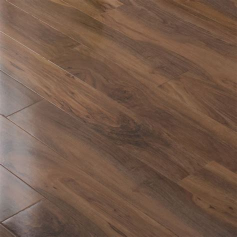 bevelloc walnut effect gloss plank laminate flooring