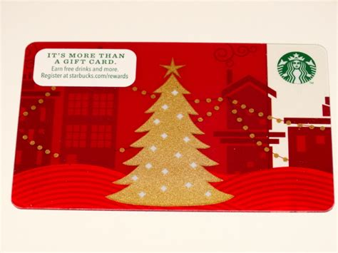 Starbuck Gift Card Balance - starbucks gift card red w gold christmas tree zero balance