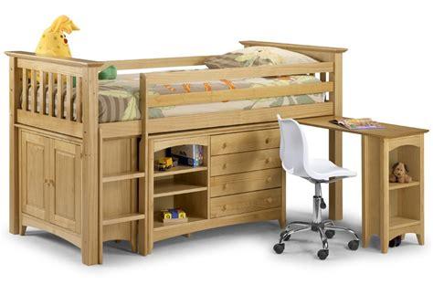 Midi Sleeper Beds by Pine Sleep Station Single Bed Frame High Mid Midi Sleeper