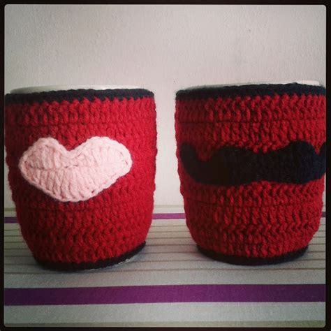 Handmade Hers - handmade wedding gift his and hers mug cozy i made