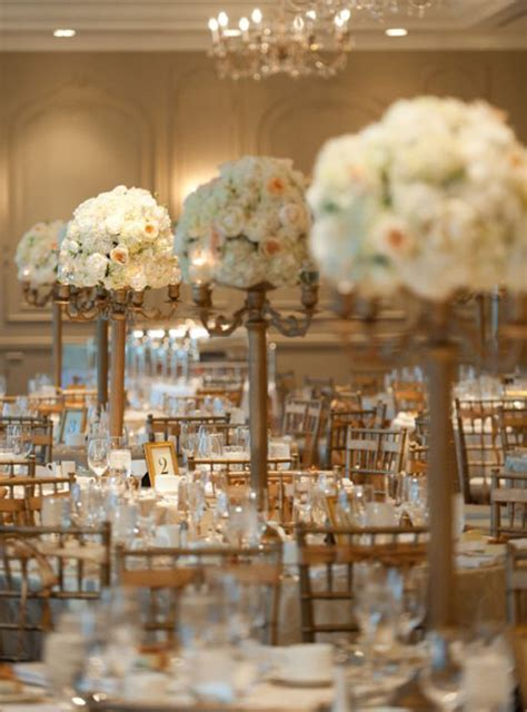 white gold wedding decorations gold wedding reception ideas wedding centerpiece