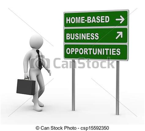 stock illustrations of 3d businessman home based business
