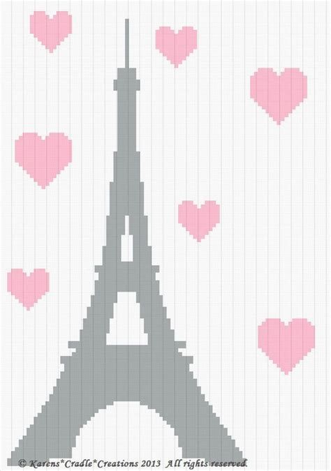 crochet pattern eiffel tower crochet pattern patterns eiffel tower afghan pattern