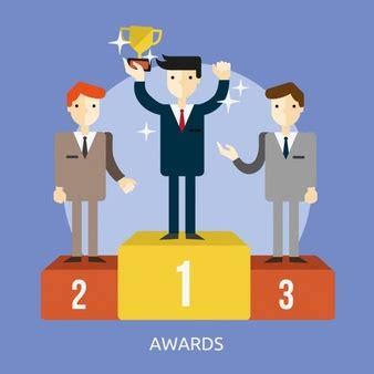 Carpet Set Animasi 1 three persons on winners podium icons free