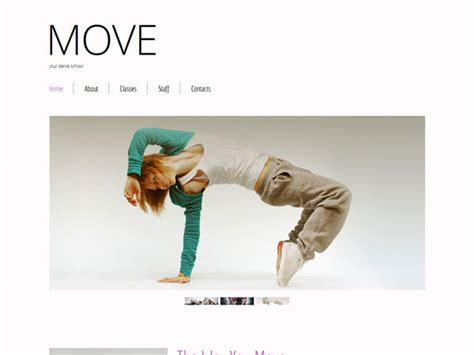 blogger themes dance free html5 template for dance school created by