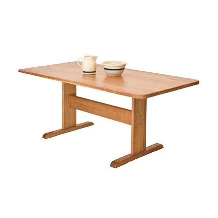 single leg dining table solid wood dining tables vermont woods studios