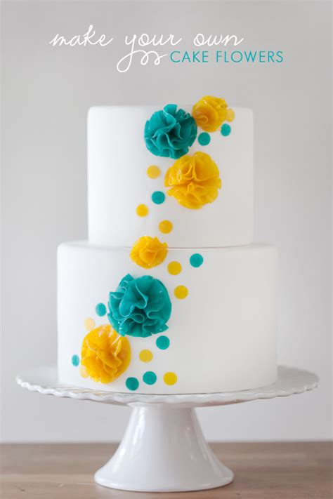diy cake decorations make your own cake flowers