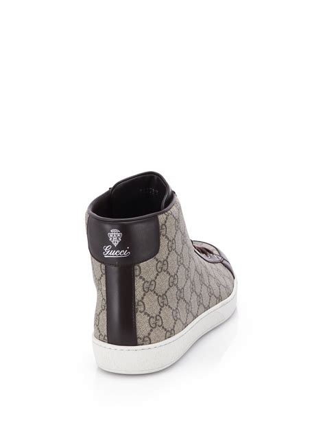 The Best Gucci Seprem 1 Gucci Gg Supreme Canvas High Top Sneakers In For