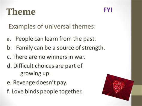 universal themes in literature exles universal themes in fantasy stories unit 4 test review ppt