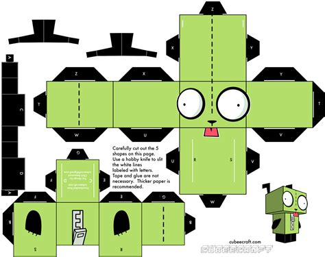 paper craft invader zim papercraft gir wallpaper 1482x1173 59317