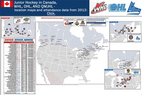 canadian hockey map canadian hockey league location maps for whl ohl and