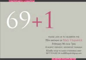 70th birthday invitation 365greetings
