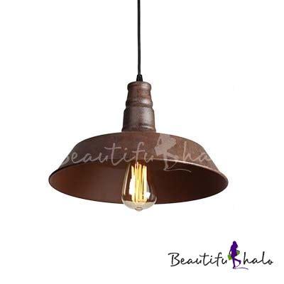 industrial looking l shades buy rust iron 1 light industrial style shade indoor