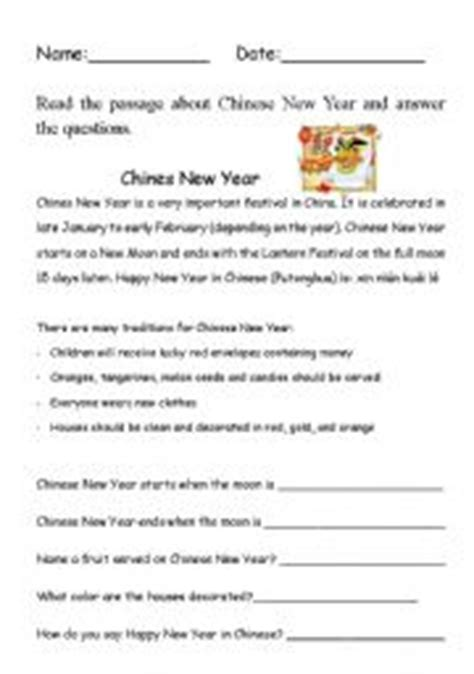 reading comprehension for new year teaching worksheets new year