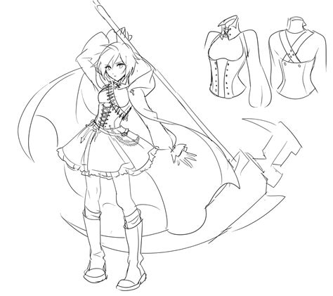 ruby rose coloring page rwby character coloring pages coloring pages