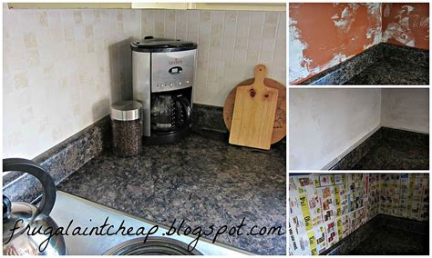 Inexpensive Kitchen Backsplash Hometalk Easy And Inexpensive Kitchen Backsplash