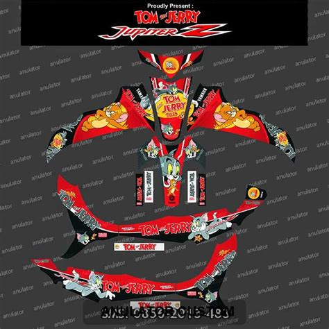 Sticker Striping Motor Stiker Yamaha Jupiter Z Burhan Spec B 1 jual beli stiker striping yamaha jupiter z tom and jerry